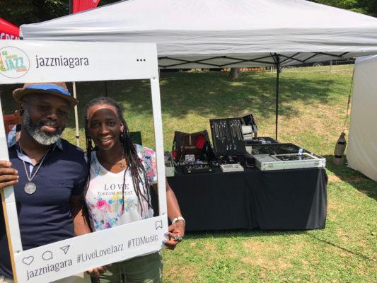Deborah Hurley-Laing along with her husband at 2018 TD Niagara Jazz Festival