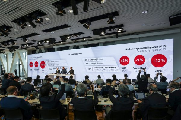 The Annual Press Conference of the Porsche AG on 15 March 2019 in Stuttgart