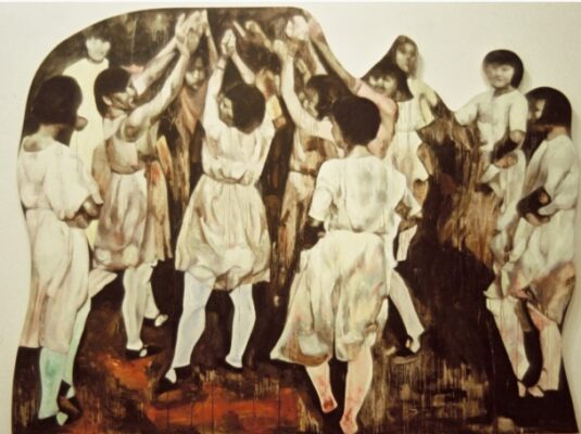 Baruch College Art Collection work by Hung Liu. (Courtesy of Mishkin Gallery)