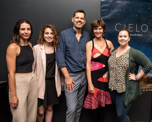 """Ally La Mere and clients promoting the film """"Cielo"""""""